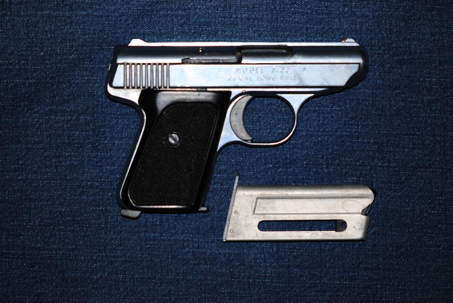 Jennings .22 cal. semi-auto pistol